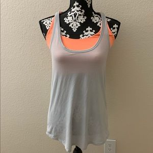 Gray & Orange Old Navy Strappy Active Tank